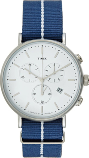 Timex THE FAIRFIELD Kronograf white/blue