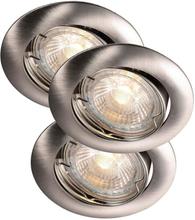 Nordlux Recess Indbygningsspots Udendørs 3-kit LED 3x3W/830 GU10, Børstet stål