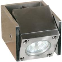 Royal Botania Q-BIC udendørs væglampe/havelampe, 1 justerbar lampe, Rustfrit stål