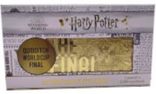 Harry Potter 24K Vergoldetes Quidditch Weltmeisterschaft Ticket Limited Edition Replik - Zavvi Exklusiv
