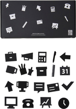 Design Letters - Office Icons Til Oppslagstavle 20-pk, Sort