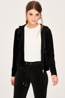 Cecilia velour hoodie