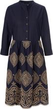 Kleid Stehkragen Schneiders Salzburg blau