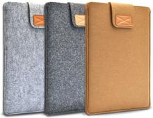 Fodral till macbook air / pro 13 ullfilt grå