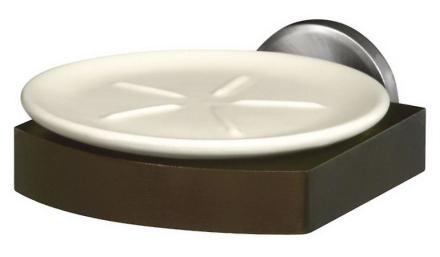 Bisk Heltre og Zamak vegg montert grep + keramikk såpe parabolen Plate