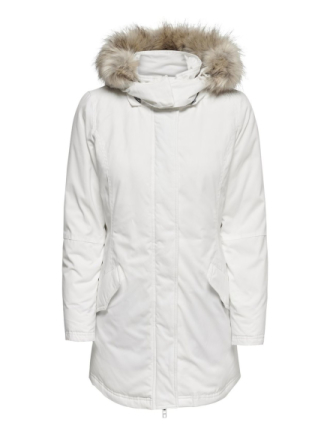 ONLY Down Parka Coat Women White