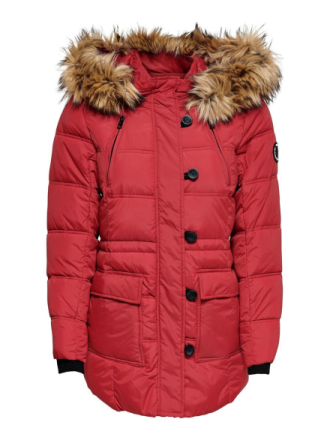 ONLY Quilted Coat Women Red