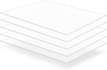 vidaXL Plexiglasskivor 5 st 60x80 cm 3 mm