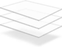 vidaXL Plexiglasskivor 3 st 60x80 cm 15 mm