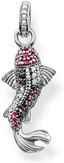 Thomas Sabo - Karma Beads Anheng Sort & Rød Zirconia, Sølv