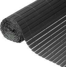 Nature Dubbelsidigt insynsskydd PVC 1x3m antracit