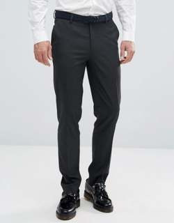 ASOS DESIGN skinny smart trousers in charcoal - Charcoal