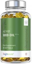Hampunsiemenöljy Geelikapselit - 1000 mg 180 kpl - Riittää 6 kuukaudeksi
