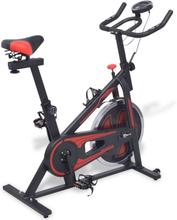 vidaXL Spinningpyörä sykemittareilla musta ja punainen