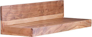 Residential massivt træ væghylde MUMBAI 80 cm acacia Wallboard hylde møbler NY