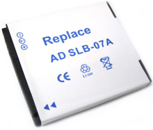Kamerabatteri till SLB-07A till Samsung kamera