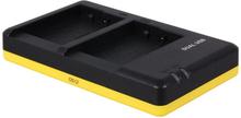Dubbelladdare för 2 batterier Panasonic DMW-BLC12