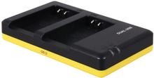 Dubbelladdare för 2 batterier Nikon EN-EL20 / EN-EL20a