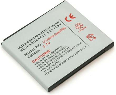 Batteri till bl.a. LG P990 Optimus Speed, P920 Optimus 3D, Star