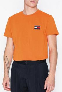 Tommy Jeans Tjm Tommy Badge Tee T-skjorter og singleter Orange