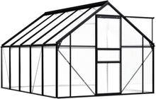 Drivhus antrasitt 190x310cm - 5,89 m²