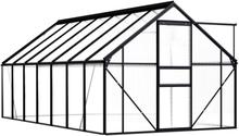 Drivhus antrasitt 190x430 - 8,17 m²