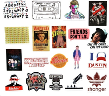 19 PCS Stranger Things American TV Series stickers car stickers cartoon tide brand trolley suitcase graffiti stickers