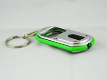 Nyckelring / Nyckelknippa Med Kapsylöppnare och LED-lampa (Grön)