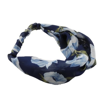 Everneed Annemone Light Blue Floral Hiuspanta Navy 1 kpl
