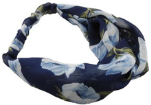 Everneed Annemone Light Blue Floral Hiuspanta Navy 1 kpl