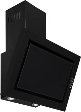 Vägghängd köksfläkt SIGMA svart 90cm +svart glas - svart - 90 cm