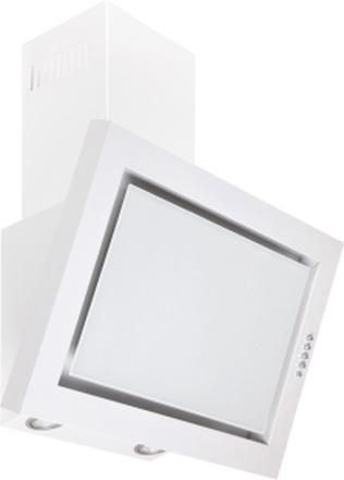 Vägghängd köksfläkt SIGMA vit 90cm +vit glas - vit - 60 cm