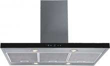 Lyx frihängande köksfläkt Pacific 60cm / 90 cm rostfritt stål+ svart glas