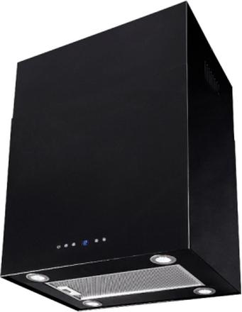 Lyx vägghängd köksfläkt SEMPRE 40cm / 60cm svart - svart - 40 cm