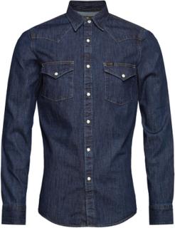 Lee Western Shirt Skjorte Casual Blå Lee Jeans