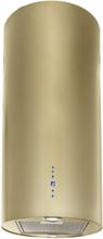 Design frihängande cylinderformad köksfläkt Explorer guld mässing