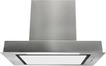 Inbyggnadsfläkt Enzo rostfritt +vit glas 60cm/90cm