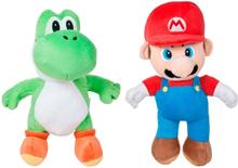 Super Mario Bros Super Mario Och Yoshi Plysch Stor Gosedjur Mjukisdjur 27 cm