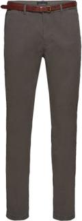 Slim Fit Cotton/Elastan Garment Dyed Chino Pant Chinos Byxor Grå SCOTCH & SODA