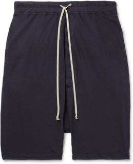 Pod Cotton-jersey Drawstring Shorts - Blue