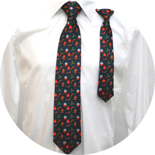 Far och son slipsar Julmönster