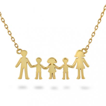 Familie - Smykke i sølv to gutter, en jente