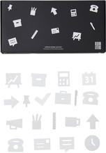 Design Letters - Office Icons Till Opslagstavle 20 Delar, Hvid