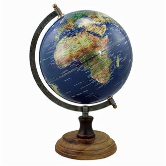 Globus mørkeblå H 32 x 20 cm Ø