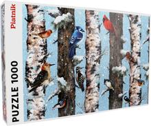 Pussel 1000 bitar Vinterfåglar - 38% rabatt