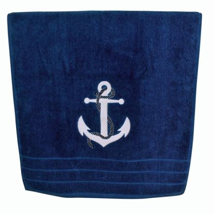Anker Håndklæde blå