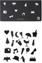 Design Letters - Party Icons Til Oppslagstavle 20-pk, Sort