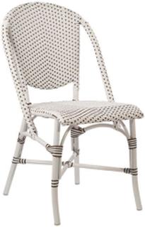 SIKA DESIGN Sofie caféstol - hvid aluminium/artfibre