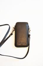 Mobilfodral med kortfack och halsband (iPhone 5) - Svart