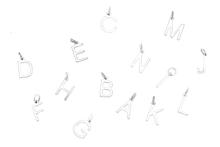 Cu Jewellery Letter A-z Silver